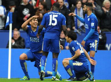 Video: Se Leicester-spillere gå amok i Premier League-jubel