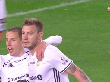 Video: Stor aften for Bendtner i Rosenborg - se målene her